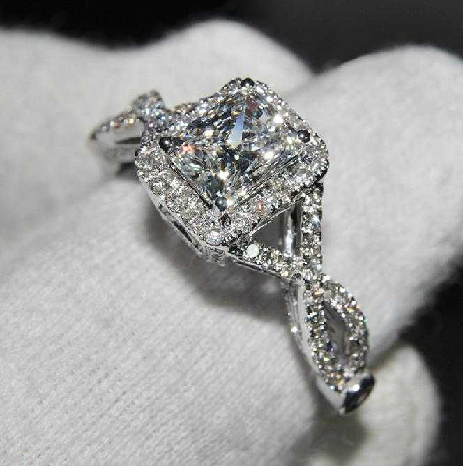 3 Ct Cushion Cut Diamond Engagement Wedding Ring Certified NSCD For Sale It