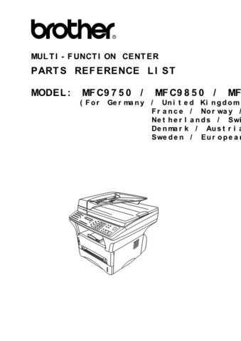 brother mfc 8950 service manual