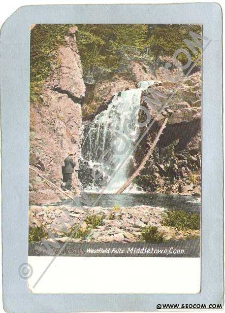 Ct Middletown Postcard Westfield Falls Ct Box3 1336 For