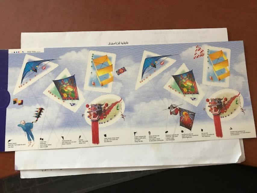 Canada Sport Kite booklet 1999 mnh For Sale