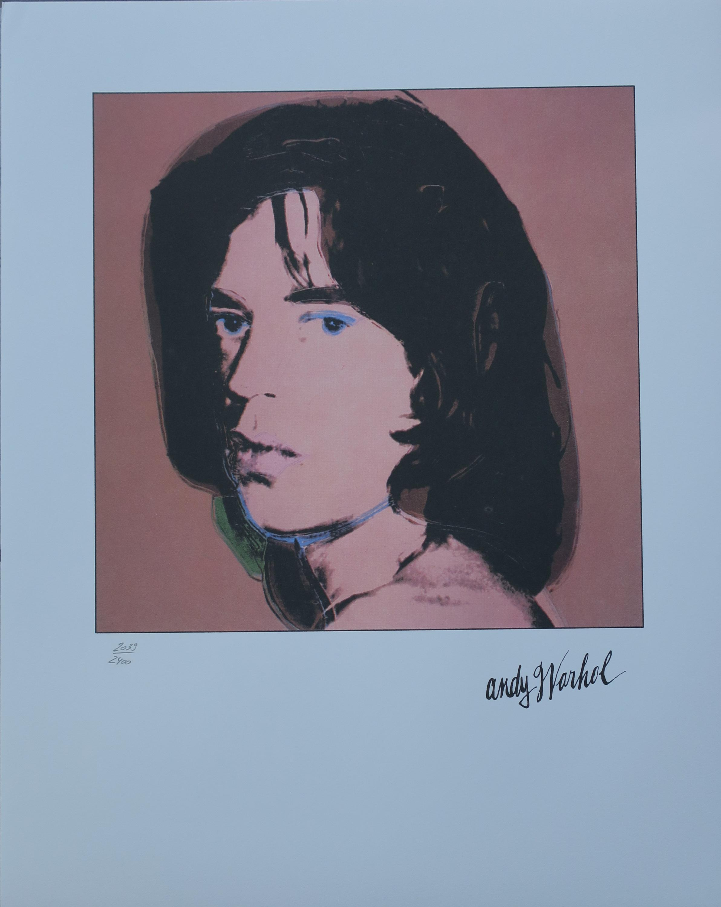 Charitybuzz: Mick Jagger Lithograph by Andy Warhol - Lot
