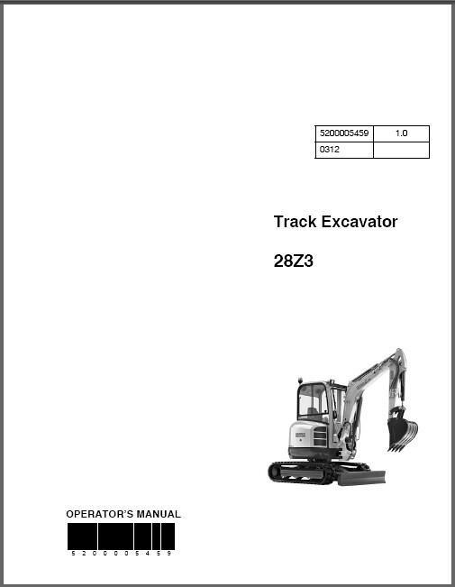 Wacker Neuson 28z3 Track Excavator Service Repair  U0026 Parts