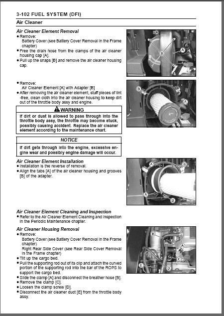 Kawasaki MULE PRO-FXT ( KAF820AF/BF/CF/DF ) UTV Service Repair Manual on a  CD
