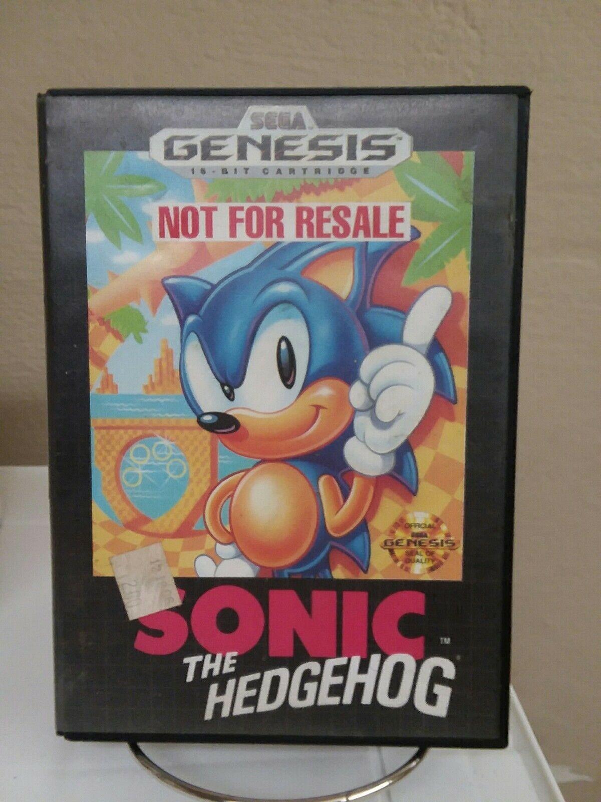 Sonic The Hedgehog Sega Genesis 1991 Not For Resale Copy For Sale