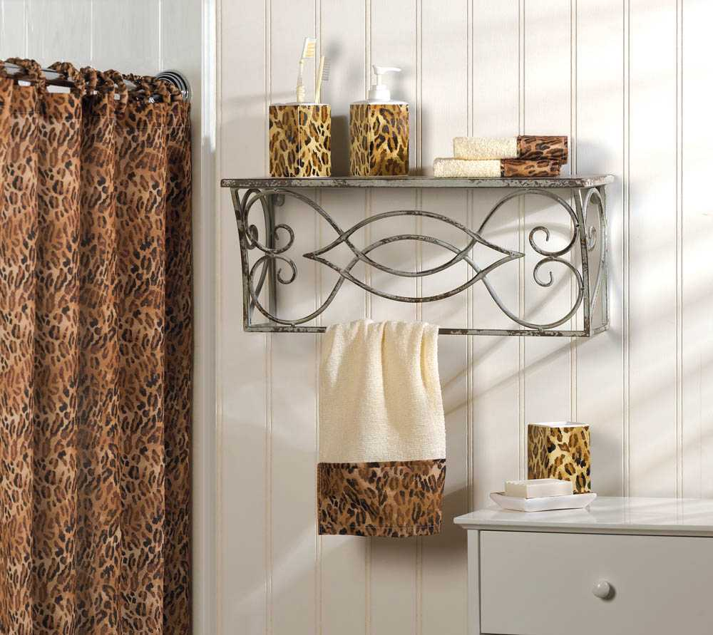 leopard print complete bath decor for sale item 316624
