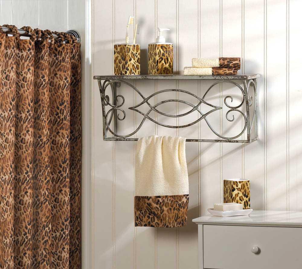 Leopard Print Complete Bath Decor For Sale