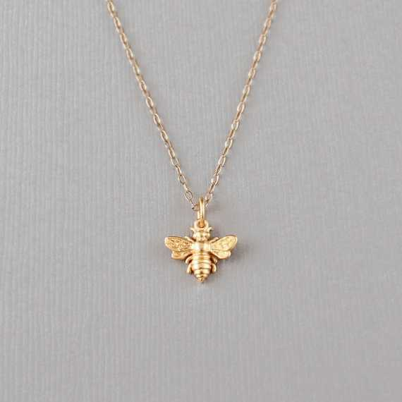 b1c2b497401c5c Bumblebee Necklace - 24K Gold Dipped Honey Bee Pendant . Gift Ideas for Her,  Fri For Sale - Item #324197