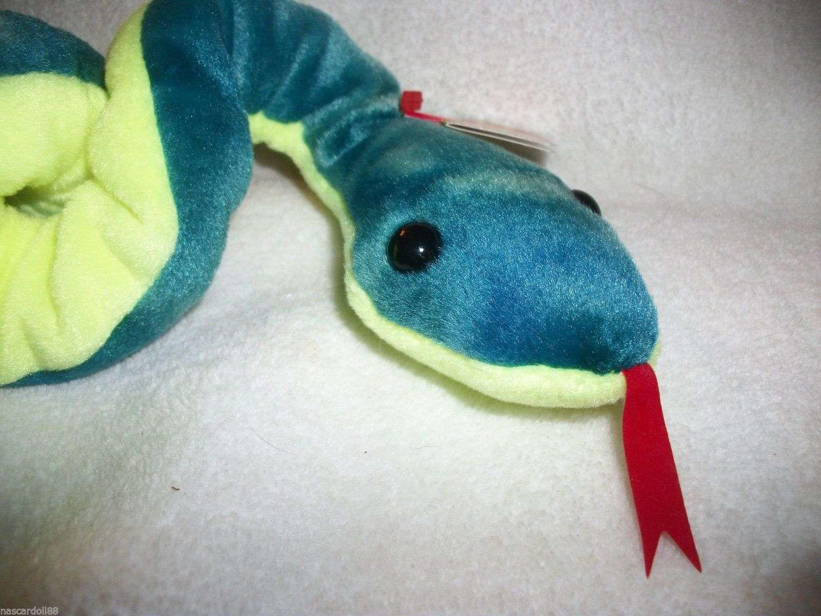 a5b576c218c TY Beanie Babies Hissy the snake Bean Stuffed Plush Animal stocking stuffer  For Sale - Item  255760