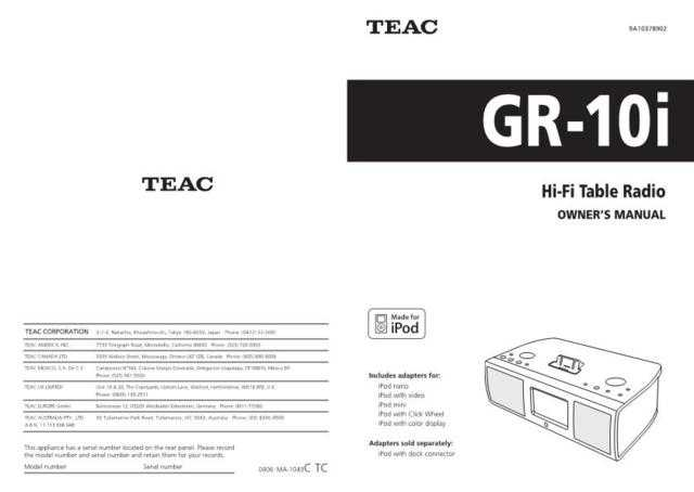Teac GR-10i(E)C Service Manual by download Mauritron #223755