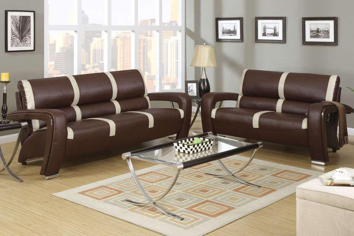 Modern black stripe design sofa love seat 2 piece living for Two seater sofa living room ideas