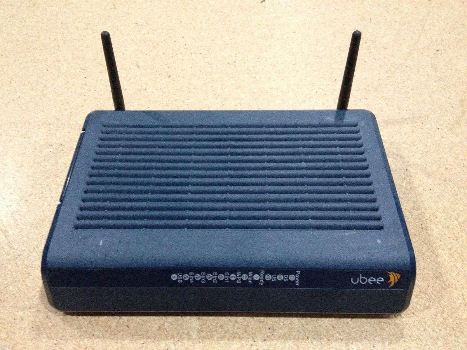 Ubee DDW3612 Cable Modem Gateway Wireless DOCSIS 3 0 WiFi 342Mbps USB switch