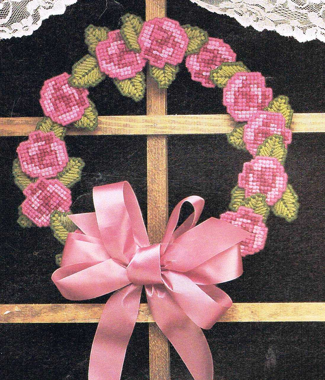 mothers day door wreaths plastic canvas pdf pattern