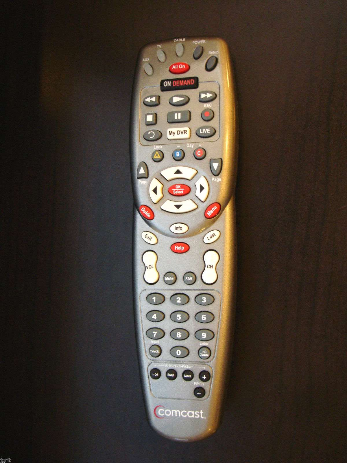 original platinum Comcast remote control ON DEMAND DVR HDTV cable box  satellite