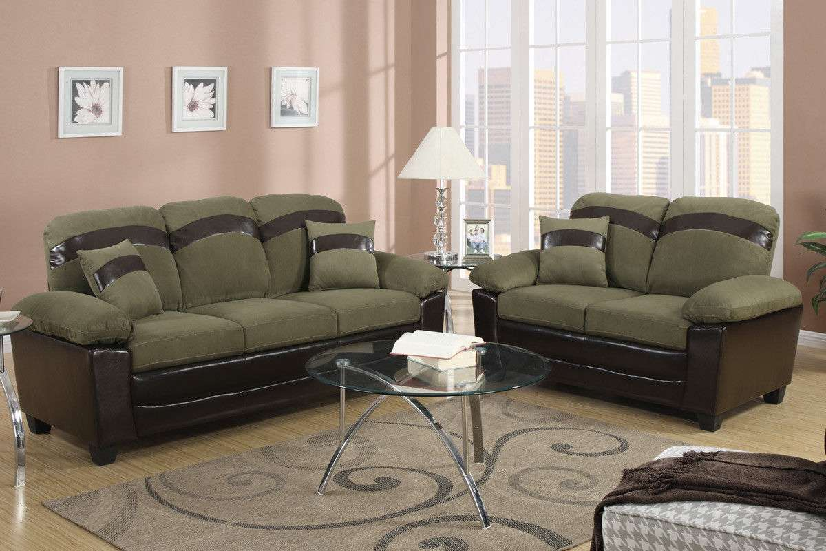 Sofa Set In Microfiber Sofa Furniture 2 Piece Living Room