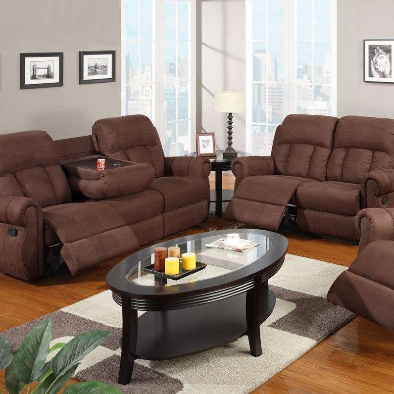 Sofas & Loveseats 3 Pc Living Room Set Full Microfiber