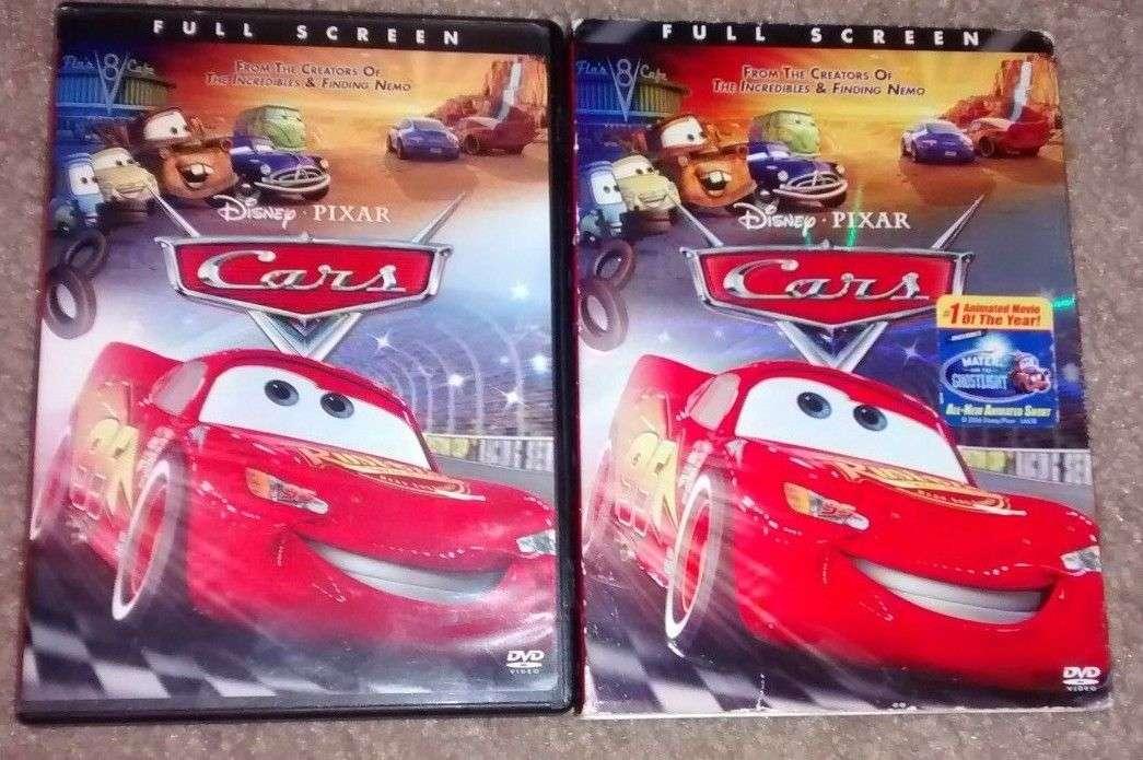 Cars 2006 Dvd Movie Disney Pixar Full Frame W Slip