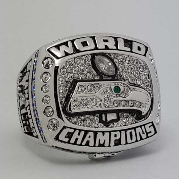 2013 Seattle Seahawks Xlviii Nfl Super Bowl Ring Alloy Ring Replica Size 11 Us