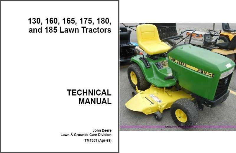 John Deere 130 160 165 175 180 185 Lawn Garden Tractor Service Repair Manual Cd