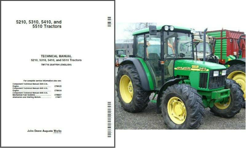 John Deere 5210 5310 5410 5510 Tractor Service Repair Workshop Manual CD  TM1716
