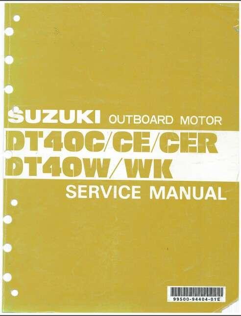 84-98 Suzuki DT40C DT50CE DT40CER DT40W DT40WK Outboard Motor Service  Manual CD