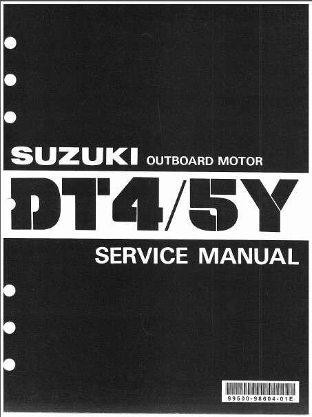85 99 suzuki dt4 dt5y two stroke outboard motor service repair rh unisquare com suzuki outboard owners manuals free download suzuki outboard service manual df90
