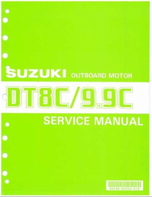 88-92 Suzuki DT8C DT9 9C 2-Stroke Outboard Motor Service Repair Manual CD