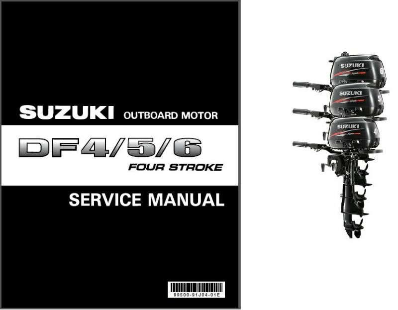 suzuki df4 df5 df6 four stroke outboard motor service repair manual rh unisquare com Suzuki DF4 Suzuki 6 HP