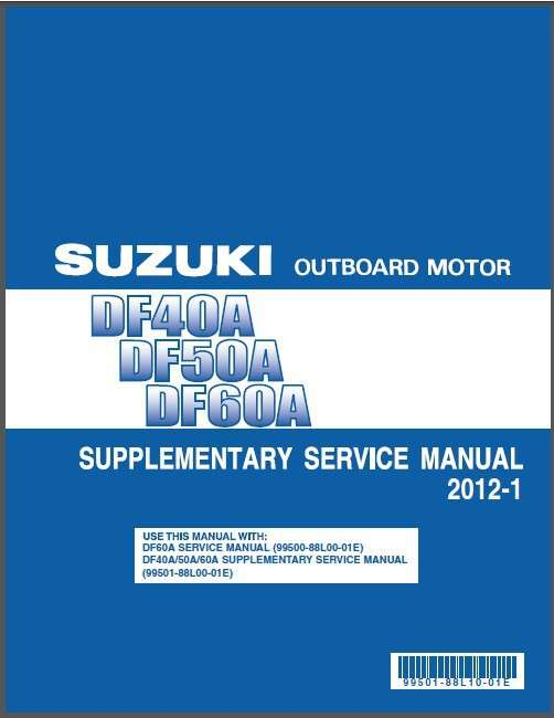 suzuki df40a df50a df60a outboard motor service repair manual cd rh unisquare com