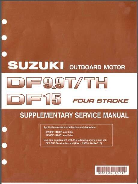 Suzuki df9 9t df9 9th df15 outboard motor service repair for Suzuki outboard motor repair