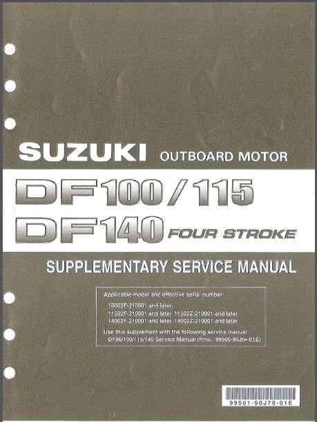01 12 suzuki df90 df100 df115 df140 outboard motor service repair rh unisquare com Suzuki DF140 Diagram Suzuki DF140 Specifications