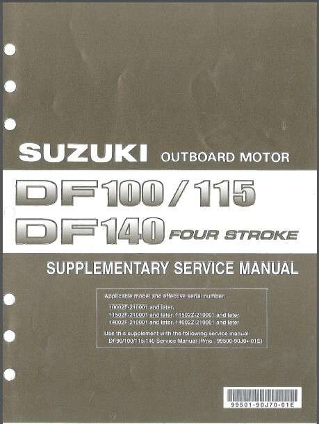 01-12 Suzuki DF90 DF100 DF115 DF140 Outboard Motor Service Repair Manual CD