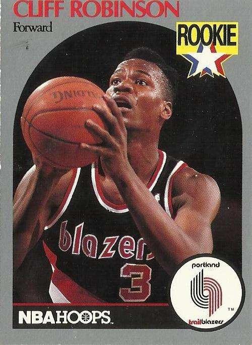 1990 91 Nba Hoops Clifford Robinson Rookie Card Portland Trail Blazers