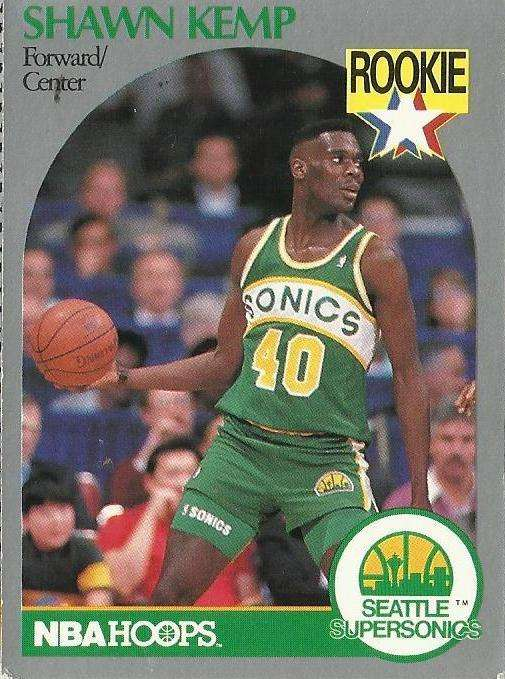 1990 91 Nba Hoops Shawn Kemp Rookie Card Seattle Supersonics