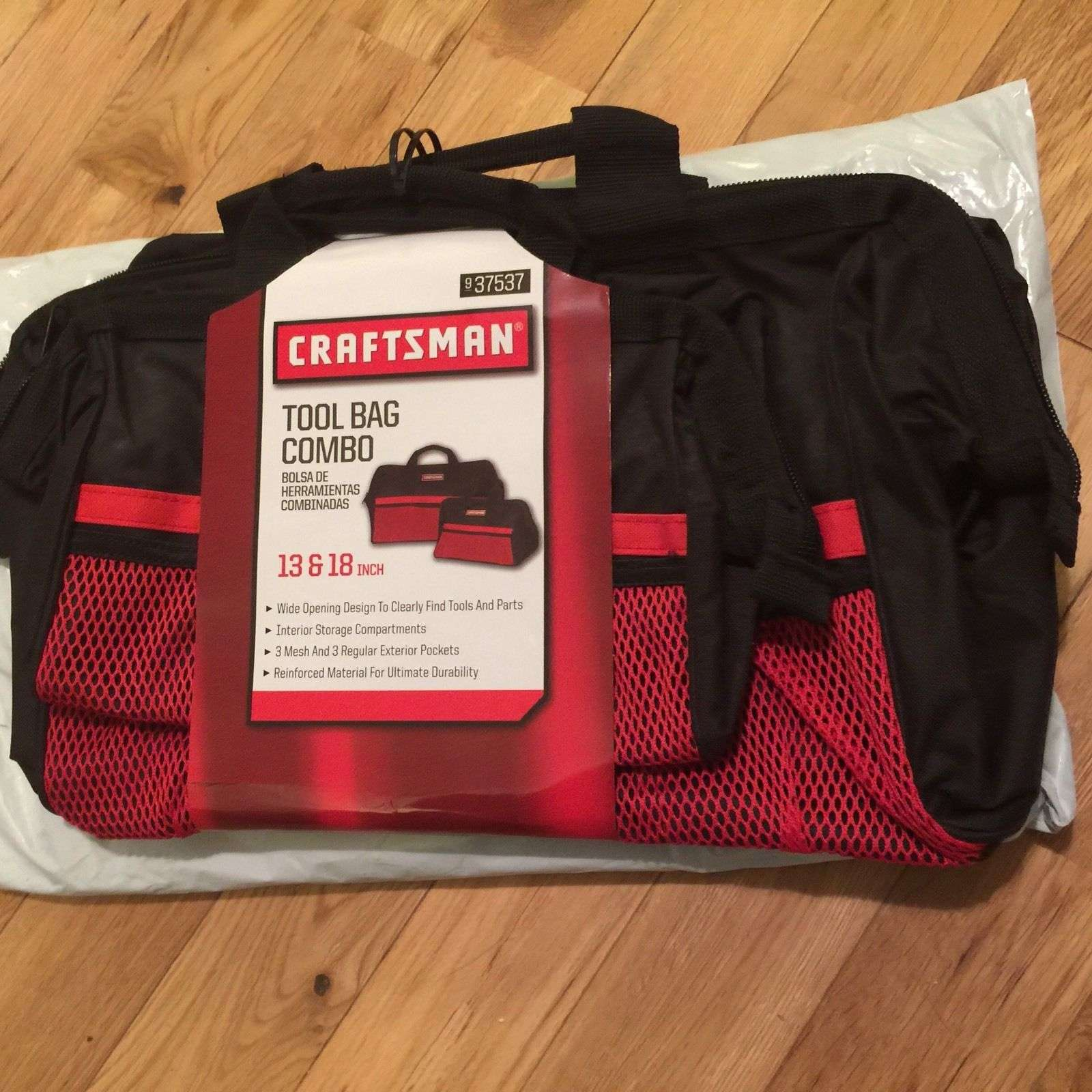 Craftsman Tool Bag Combo 2 Bags 13 18 Inch Black Red Fast Free Shipping For Item 1066863