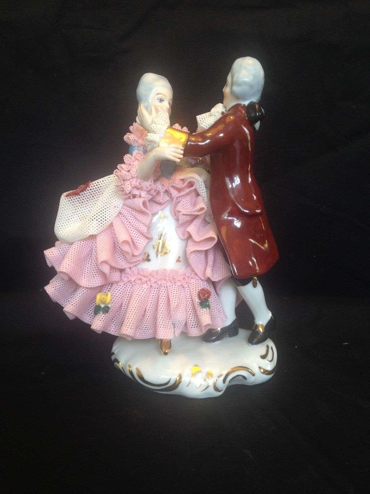 Antique Porcelain Dresden Dancing Couple Auction For