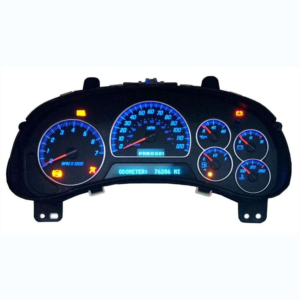 silverado yukon suburban sierra instrument cluster blue led lighting upgrade for sale