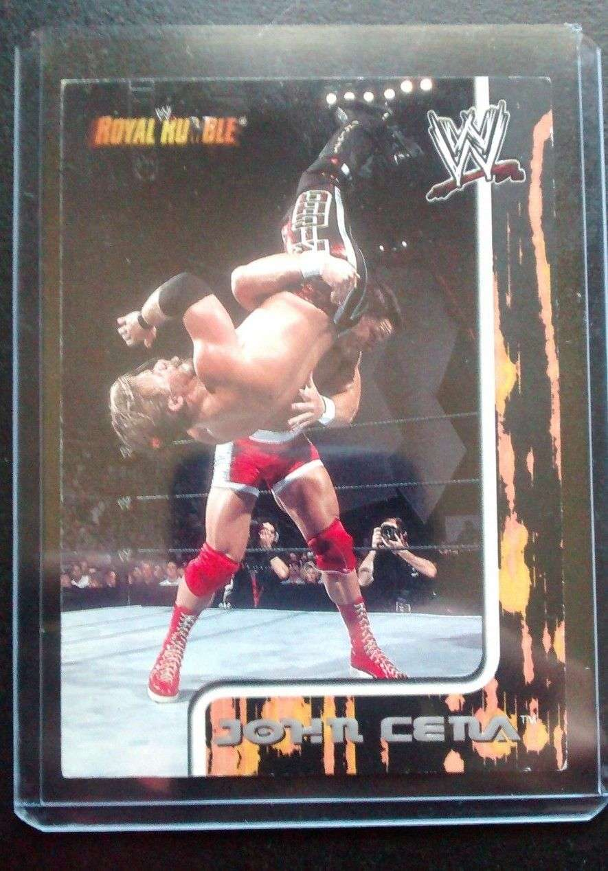 2002 Fleer Royal Rumble John Cena Rookie Wrestling Card Rc Wwe Rare