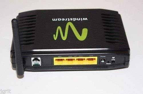 WindStream Sagemcom MODEM 1704 WIRELESS 4 port internet ROUTER DSL ethernet  WPS