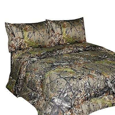 bedding camo brown camoflauge soft queen size bed sheets microfiber material new for sale item. Black Bedroom Furniture Sets. Home Design Ideas