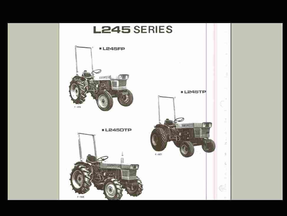 kubota l245 l245dt l 245 parts operations manuals for gas diesel rh unisquare com Kubota L245 Batterie Size Kubota L275
