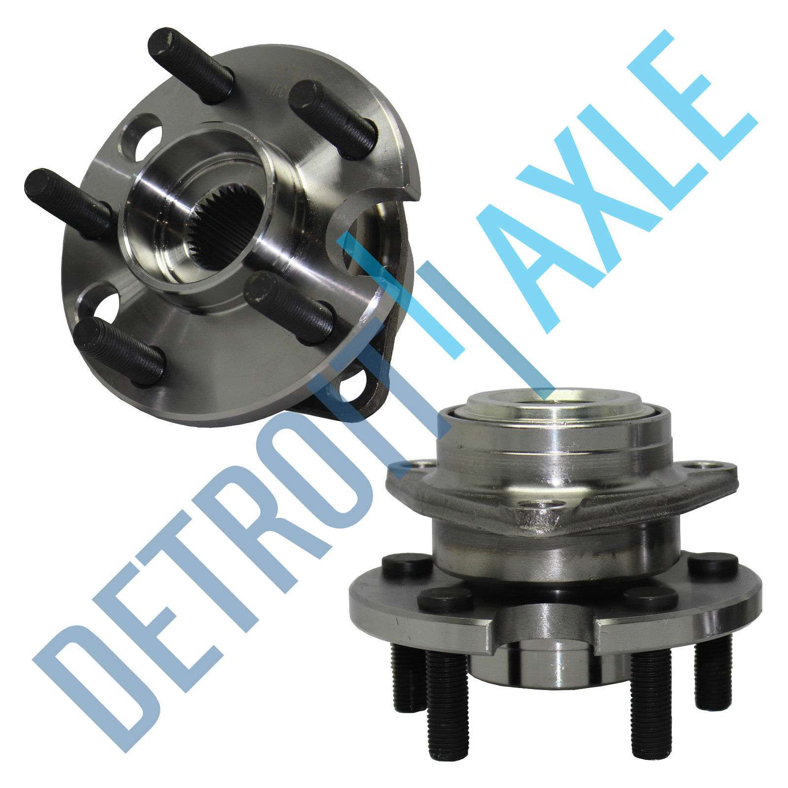 2 Front wheel hub /&bearing Assembly Pair Set for Oldmobile Chevy Pontiac W//ABS