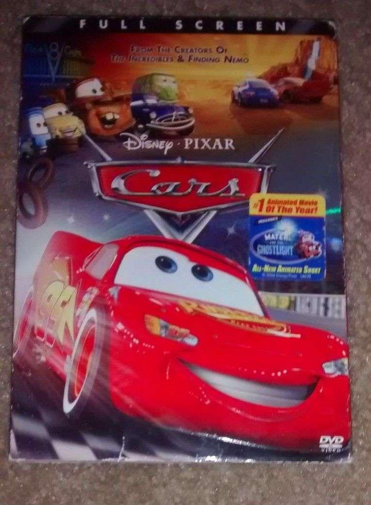 cars 2006 dvd movie disney pixar full frame w slip cover complete for sale item 566310. Black Bedroom Furniture Sets. Home Design Ideas