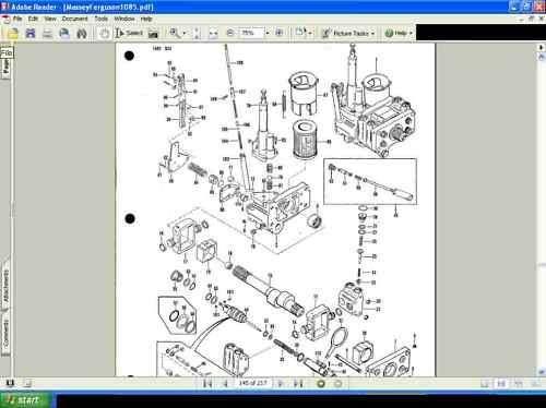 Massey Ferguson Mf1085 Parts Manual