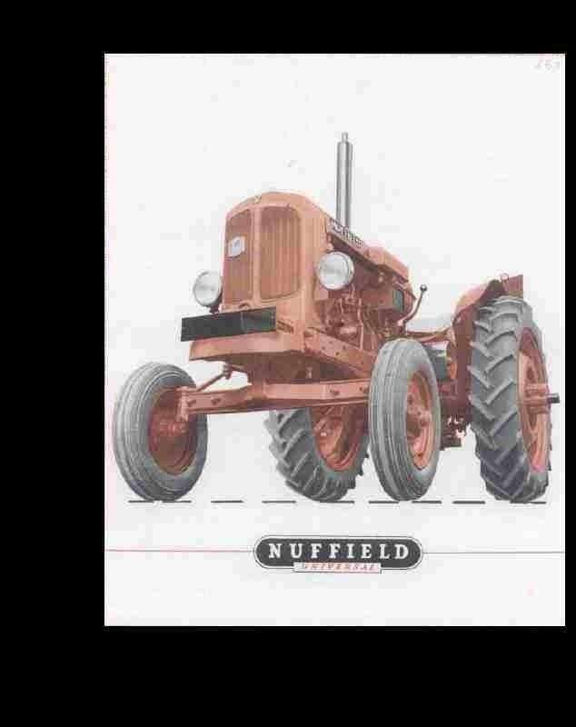 nuffield universal 3 4 workshop manual 190pg for tractor service rh unisquare com Farm Tractors Nuffield Tractor Old