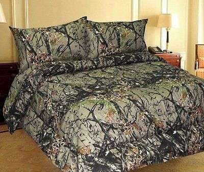 Bedding Camo Brown Camoflauge Soft Queen Size Bed Sheets