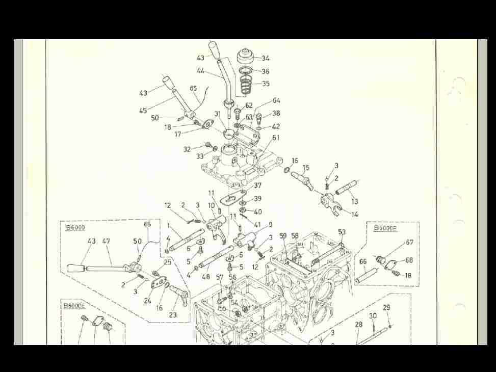 KUBOTA B6000 B6000E TRACTOR PARTS MANUAL 115pg w/ Diagrams for Service &  Repair