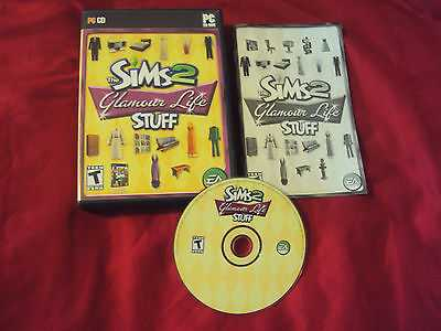 THE SIMS 2 GLAMOUR LIFE STUFF PC DISC MANUAL ART CASE NRMNT TO MINT HAS