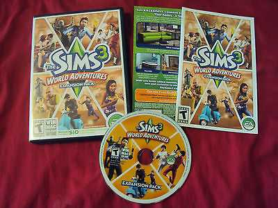 the sims 3 world adventures pc mac disc manual case. Black Bedroom Furniture Sets. Home Design Ideas