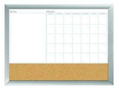 18 X24 Aluminum Framed Dry Erase Calendar Cork Whiteboard Marker