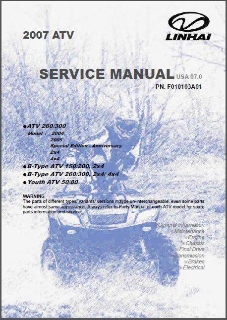 Linhai 260 Atv Manual
